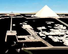 Giza plateau 3D