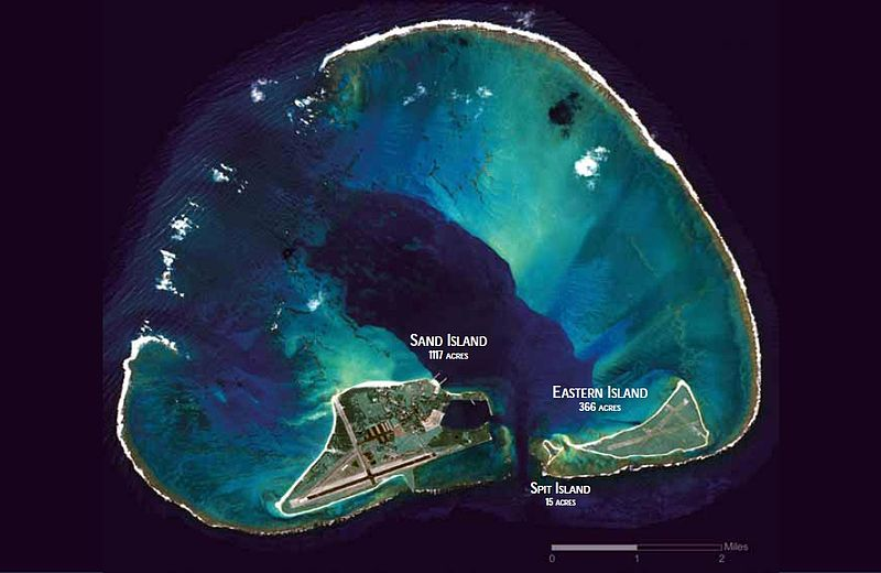 Midway Atoll from the air