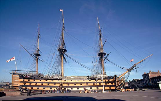 HMS Victory at dockside
