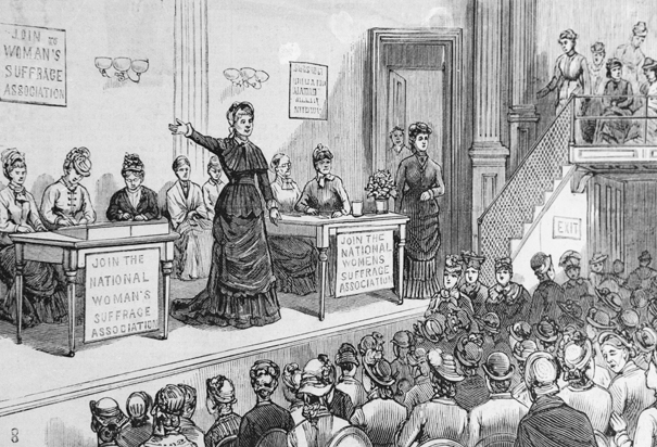 Women's Suffrage Convention drawing