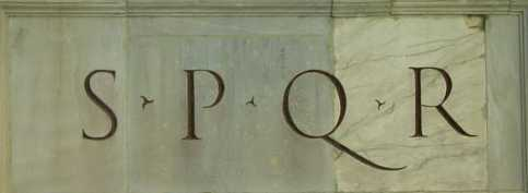 SPQR from Roman arch